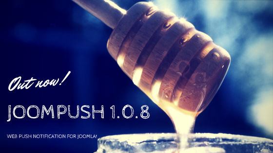 JoomPush 1.0.8  out with Sync Button!