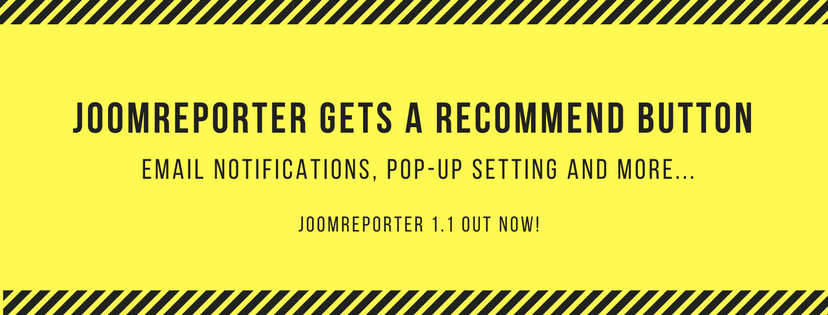 JoomReporter gets a Recommend button!