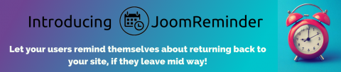 Joomla gets a Remind Me button with JoomReminder!
